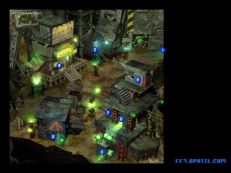 Sector 7 Slums Map : FF7 All Location Maps - FF7 Walkthrough ...
