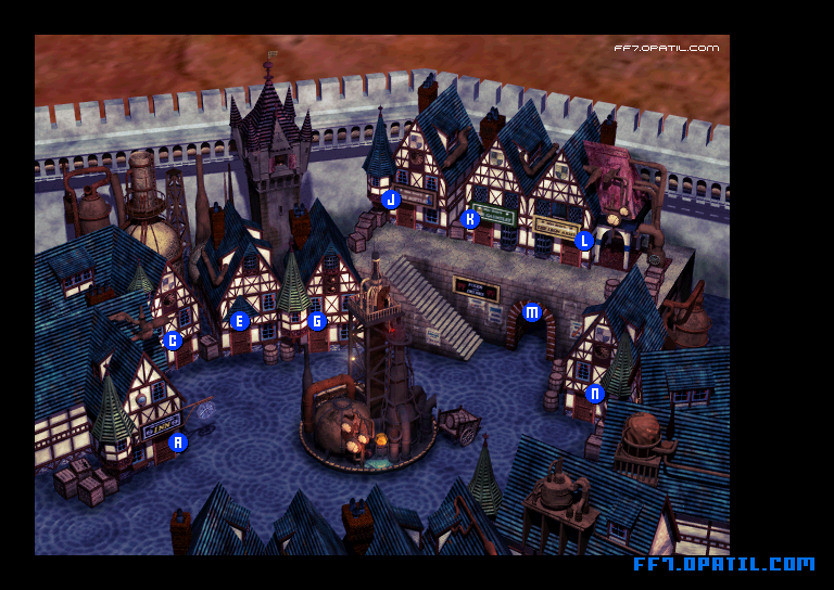 Town of Kalm Map : FF7 All Location Maps - FF7 Walkthrough and ...