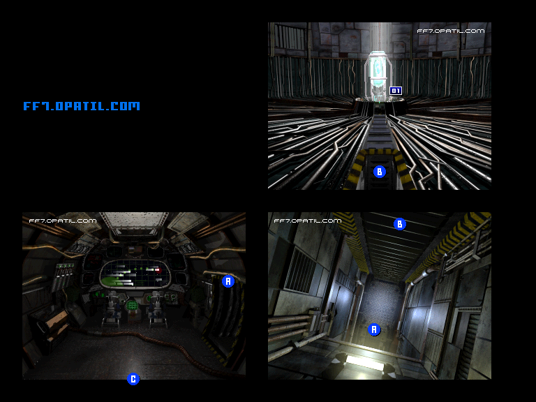 Inside of Rocket, After launch Map : FF7 All Location Maps
